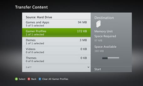 disco duro de xbox 360-transferir a la consola
