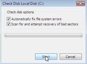 Resolver el problema del disco duro para corregir el error de pantalla azul bccode 50-paso 2