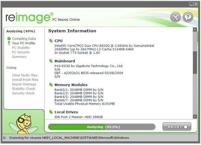 Software de recuperación para reparar pantalla azul bccode 50 error-paso 2