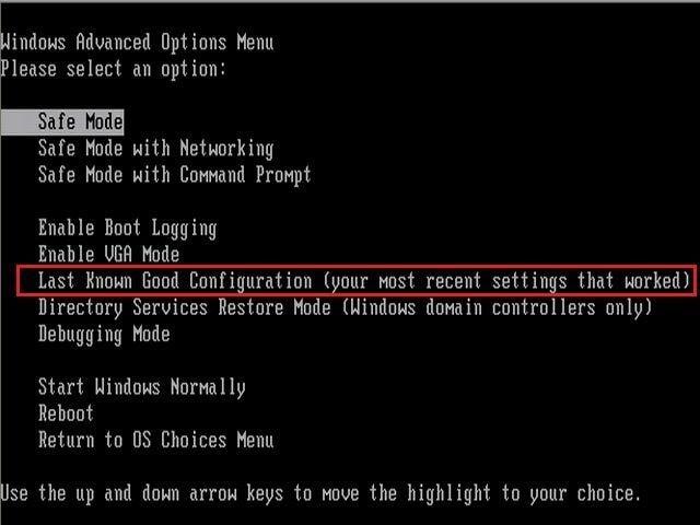 Konfiguration wählen, um den Bluescreen 0x000000d1 Fehler zu beheben