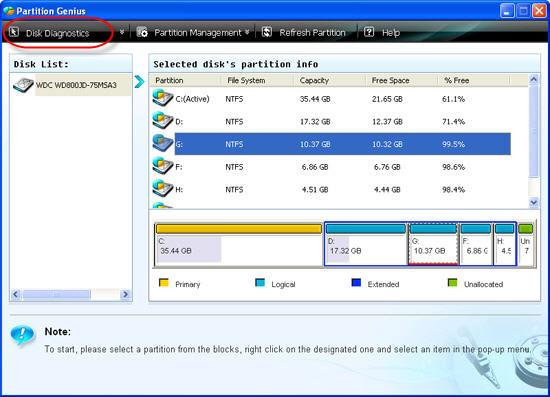 hard disk diagnostics