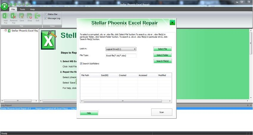recover corrupt Excel file step 1