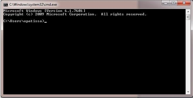 Open the Command Prompt to fix blue screen 0x000000c5