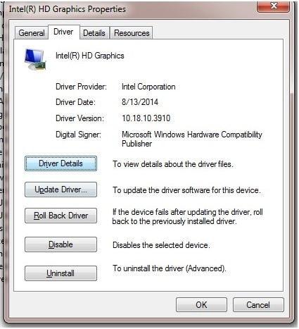 reversión del controlador para arreglar la pantalla azul 0x000000c5