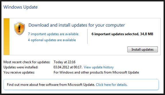 actualizar la instalación de Windows para reparar la pantalla azul de la muerte 0x00000116