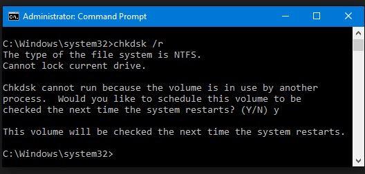 Verificar la corrupción del disco duro para arreglar la pantalla azul de la muerte 0x00000116
