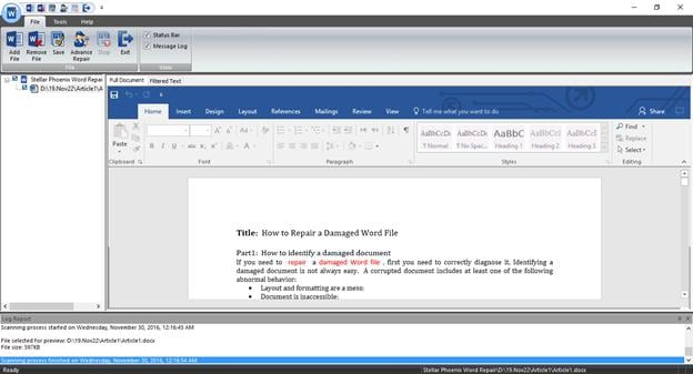 recover text from damaged word file step 3