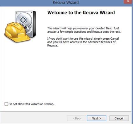 Recuva-Software zur Festplattenwiederherstellung