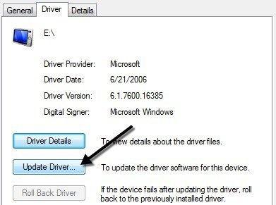 update drives