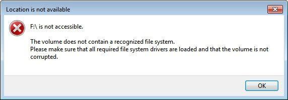 Speicherort des USB-Laufwerks ist nicht verfügbar