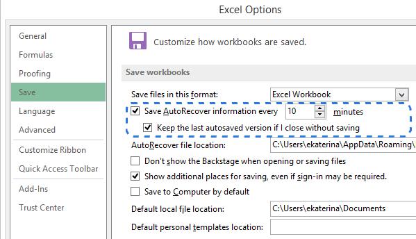 Récupération des fichiers Excel
