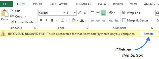 Récupération des fichiers Excel étape 6