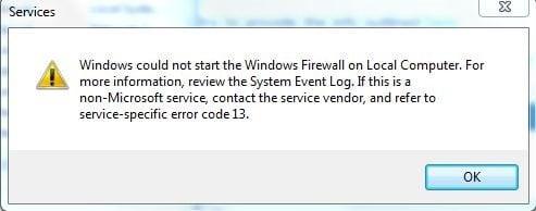 Firewall não funciona
