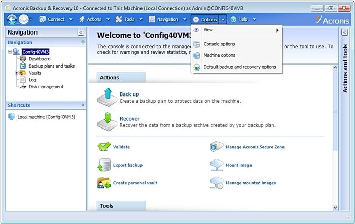 Acronis Backup and Restore
