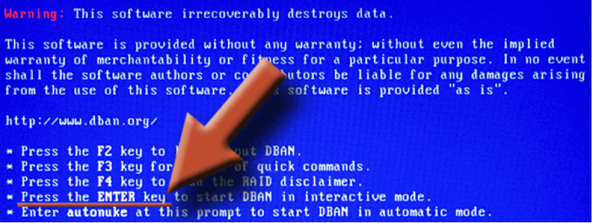 DBAN to secure erase hard drive