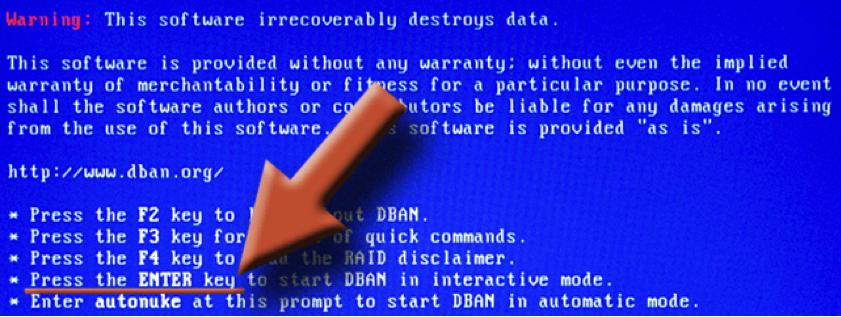DBAN para borrado seguro del disco duro