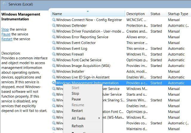 Verwendung des Windows-Verwaltungsinstruments zur Behebung einer hohen CPU-Auslastung in Windows
