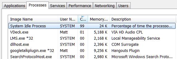 hohe CPU-Auslastung im Windows-System Leerlauf Prozess beheben