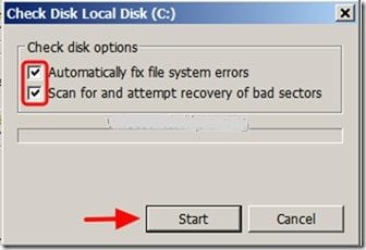 fix hard drive problems with chkdsk step 4