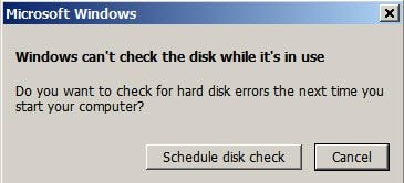 fix hard drive problems with chkdsk step 5