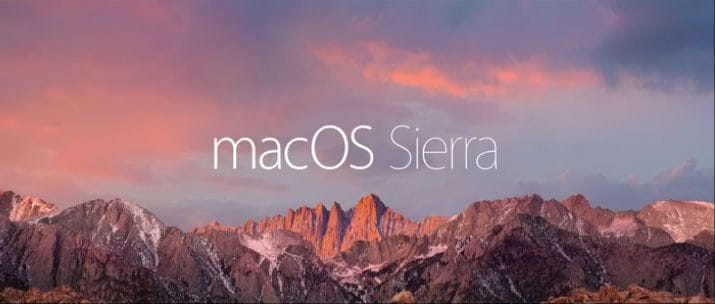 update to mac os sierra-installation