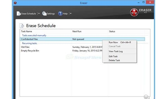 Use Eraser to delete files permanently