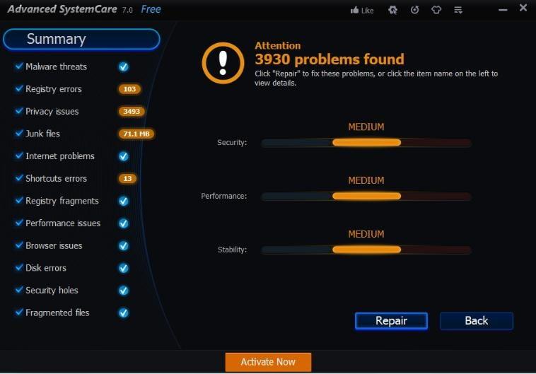 Advanced SystemCare PRO para Remover Arquivos Indesejados do Windows