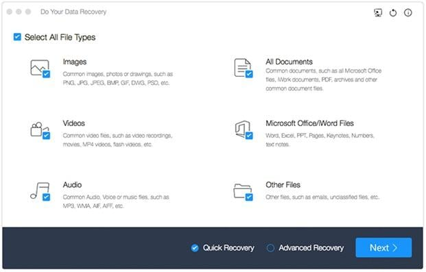 Top 5 Datenwiederherstellungssoftware für Mac OS X – Do Your Data Recovery for Mac Free