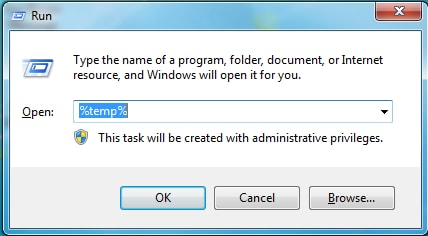 The best way to Stop your Computer from Slowing Down-delete temporary files step 1