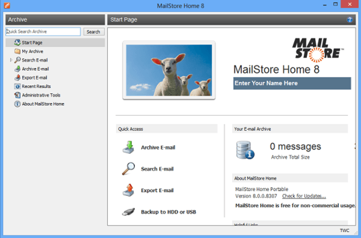 E-Mail-Backup-Software Mailstore Home