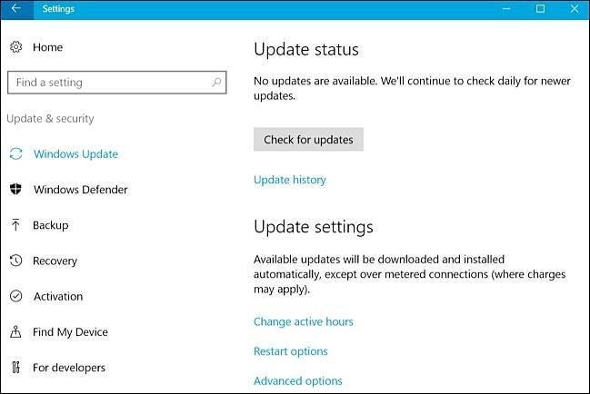 reparar erros de atualização do windows
