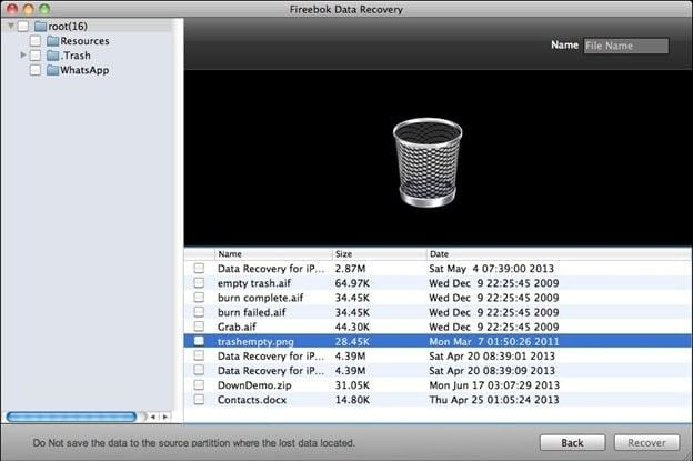 Fireebok formatted files from external hard drive on Mac