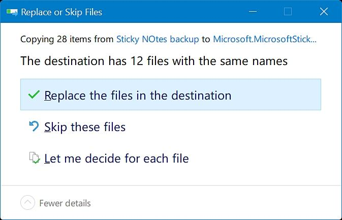 restore sticky notes in Windows 10-step 4