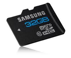 Cartão Micro SD Samsung de 32GB
