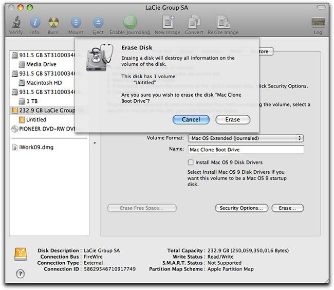 Tips for Using Flash Drive on Mac-formated erase on Mac