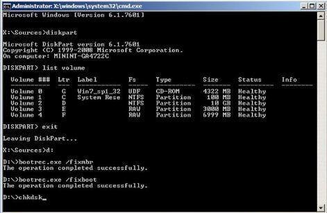 Fixing Unmountable Volume Boot Error
