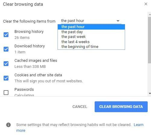clear download history on google chrome