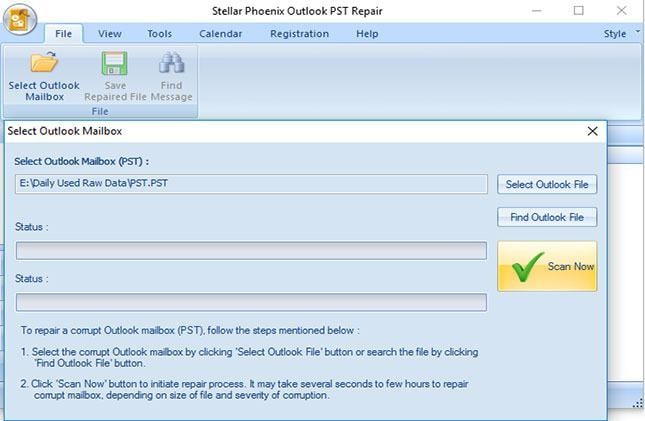 recover deleted email from PST file in outlook step 4