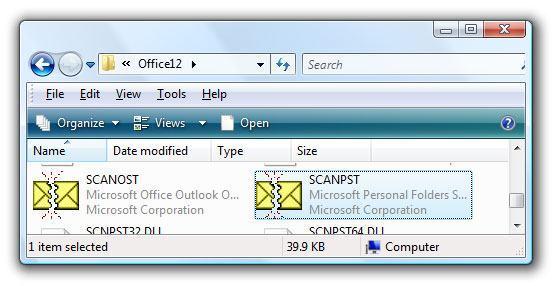 repair outlook personal folders