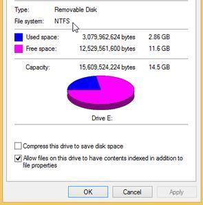 flash drive partition