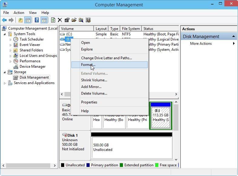 formatear partición en Windows 10 paso 2