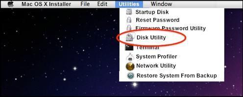 formatear partición en Mac OS X paso 1