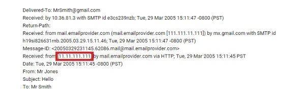 find email sender location