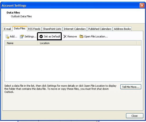 create new outlook pst file step 4