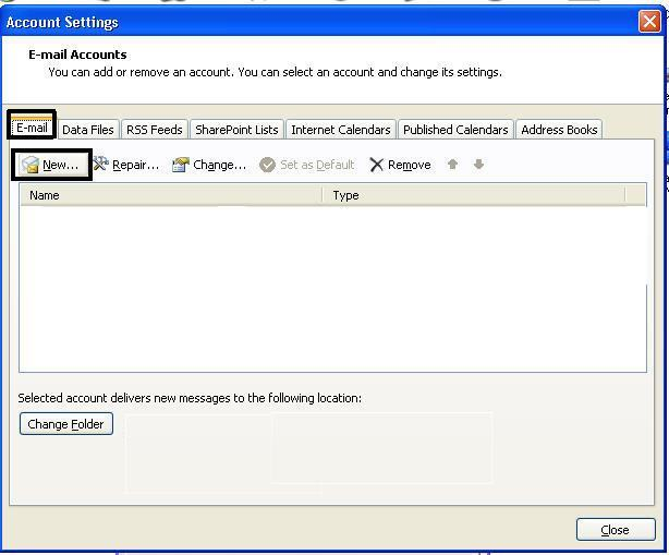 create new outlook pst file step 5