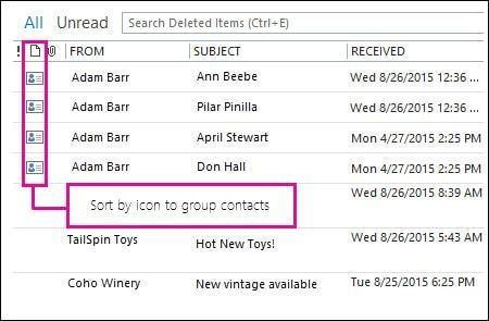 Gelöschte Kontakte in Outlook wiederherstellen Schritt 2