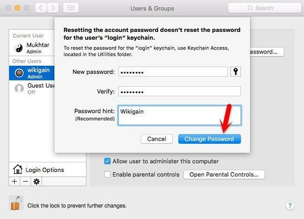 Password Recovery Mac