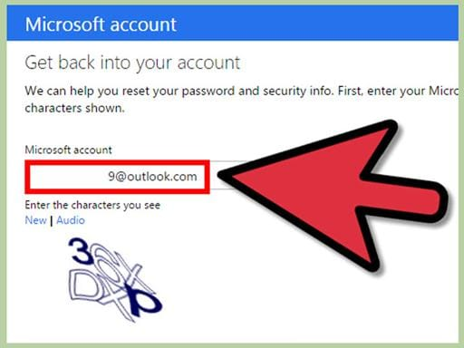 reset outlook email password
