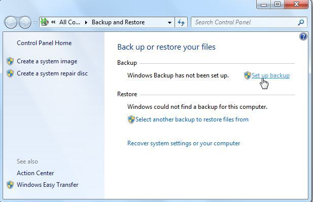 Automatisches Backup unter Windows 7