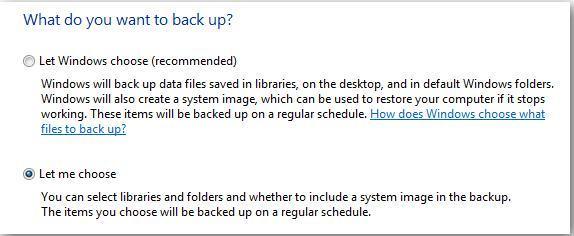 backup storage location